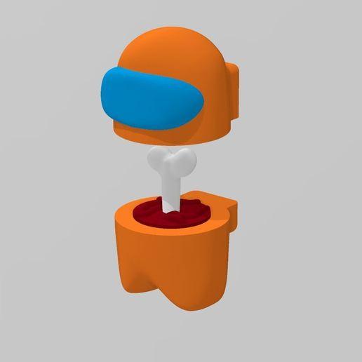 Split_Body.jpg Download free STL file Among Us - Dead or Alive • 3D printer template, FreeBug