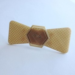 bowtie gold.JPG Download STL file Bow Tie HEXALO Square • 3D printer object, ALO