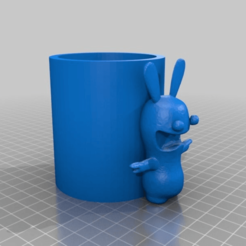 Download free STL file Pencil cup rabbit cretin • 3D print model, Hexawar