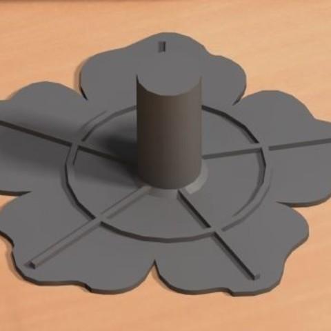 Download free STL file Juta flower template • 3D printable model, Law