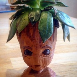 Download free 3D printer files Baby groot (remixed) head planter, HawthorneToys