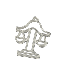 Balanza Justicia 75 mm.png Download STL file Justice Balance Scale Cookie Cutter • Template to 3D print, andih256