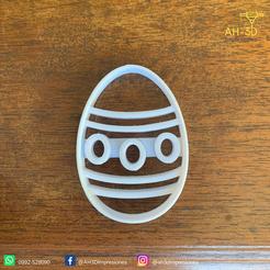 Huevo de pascuas 2 v1 (2).png Download STL file Easter Egg Cookie Cutter • 3D printer object, andih256