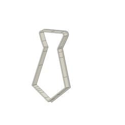 Corbata 7.5 cm v2.png Download STL file Tie Cookie Cutter • 3D printing design, andih256