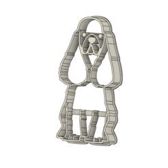 Perro 3 v1.png Download STL file Dog Cookie Cutter • Object to 3D print, andih256