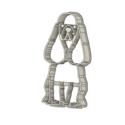 Perro 3 v1.png Télécharger fichier STL Coupe-biscuits pour chiens • Objet à imprimer en 3D, andih256