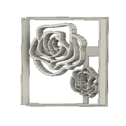 Download free 3D printer designs Roses cookie cutter, andih256