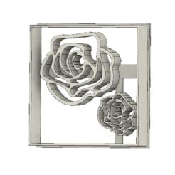 Télécharger plan imprimante 3D gatuit Emporte-pièce à l'emporte-pièce Roses, andih256