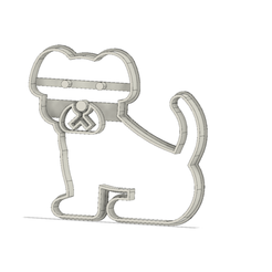 Perrito v1.png Download STL file Dog Cookie Cutter • Object to 3D print, andih256