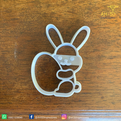 Conejo de pascuas 4 v1 (2).png Download STL file Easter Bunny Cookie Cutter • 3D print design, andih256