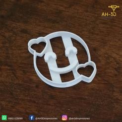Descargar archivos 3D Hearts Face Emoji Cookie Cutter, andih256