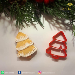 Download STL file Christmas Tree cookie cutter, andih256