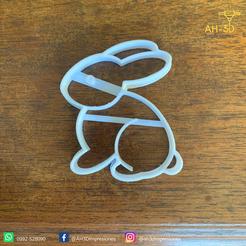 Télécharger fichier impression 3D Découpeur de biscuits en forme de lapin de Pâques, andih256