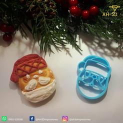 Papa Noel 3.png Download free STL file Santa Claus Cookie Cutter • 3D printer object, andih256