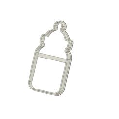 Biberon v1.png Download STL file Feeding Bottle Cookie Cutter • 3D printing object, andih256