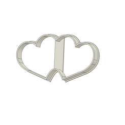 Dos corazones v1.png Download STL file Two Hearts Cookie Cutter • 3D printable object, andih256