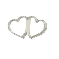 Dos corazones v1.png Télécharger fichier STL Coupe-biscuits à deux cœurs • Objet pour imprimante 3D, andih256