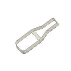 Champagne v1.png Download free STL file Champagne Bottle Cookie Cutter • 3D printing design, andih256