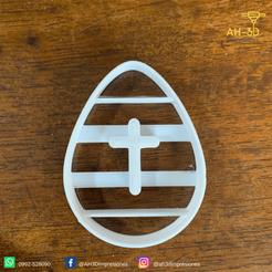 Huevo de pascuas 5 v1 (2).png Télécharger fichier STL Découpeur de biscuits aux œufs de Pâques • Modèle imprimable en 3D, andih256