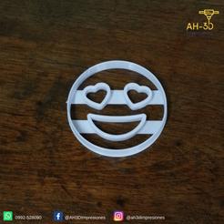 11.png Télécharger fichier STL Coeurs Yeux Emoji Coupeur de biscuits • Modèle imprimable en 3D, andih256