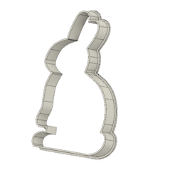 Download free 3D printing designs Easter bunny cookie cutter, andih256