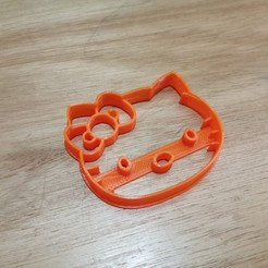 Download 3D printer files Hello Kitty cookie cutter, andih256