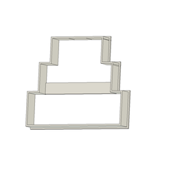Torta de Casamiento v1.png Download free STL file Wedding Cake Cookie Cutter • 3D printing design, andih256