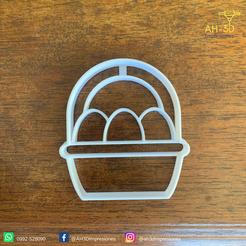 Canasta con huevos v1 (2).png Download STL file Egg Basket Cookie Cutter • 3D printer design, andih256