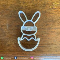 Conejo de pascuas 3 v1 (2).png Download STL file Easter Bunny Cookie Cutter • 3D print design, andih256