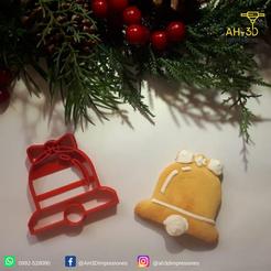 Télécharger objet 3D Coupe-biscuits Cloche de Noël, andih256