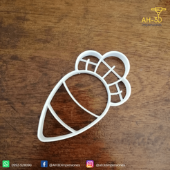 Zanahoria v1 (2).png Download STL file Carrot Cookie Cutter • 3D printer object, andih256