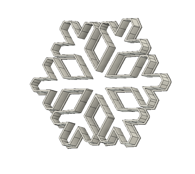 snowFlake.png Download free STL file Snowflake • 3D printable object, andih256