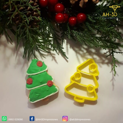 Download free STL file Christmas Tree cookie cutter, andih256