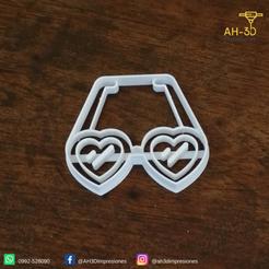 Descargar modelos 3D para imprimir Heart Glasses Cookie Cutters, andih256