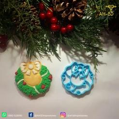 corona de navidad 2.png Download STL file Christmas Wreath cookie cutter • Template to 3D print, andih256