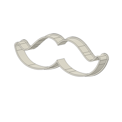 Bigote 7.5 cm v1.png Download STL file Moustache Cookie Cutter • Template to 3D print, andih256