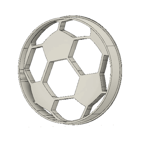 Download free STL files Soccer ball cookie cutter, andih256