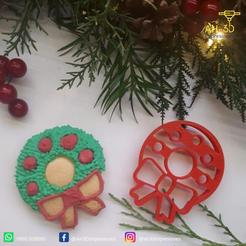 Descargar archivos 3D gratis Corta galletas de la Guirnalda de Navidad, andih256