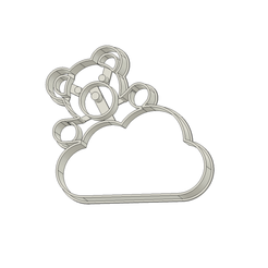 Osito Nube v1.png Download STL file Teddy Bear on a Cloud Cookie Cutter • 3D print template, andih256