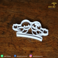 13.png Download STL file Love Birds Cookie Cutters • 3D print template, andih256