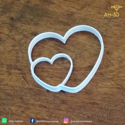 Imprimir en 3D Hearts Cookie Cutter, andih256