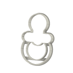 Chupete v1.png Download STL file Pacifier Cookie Cutter • 3D print model, andih256