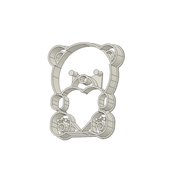 Osito 2 v4.png Download STL file Teddy Bear Cookie Cutter • 3D printable template, andih256