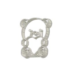 Osito 2 v4.png Télécharger fichier STL Coupeuse de biscuits en forme d'ourson • Design pour imprimante 3D, andih256