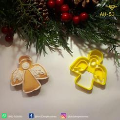 Angel 1.png Download STL file Angel cookie cutter • 3D printable design, andih256
