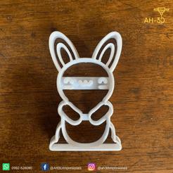Conejo de pascuas 5 v2 (2).png Download STL file Easter Bunny Cookie Cutter • 3D print design, andih256