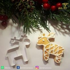 Reno 1.png Download free STL file Reindeer Cookie Cutter • 3D printer template, andih256