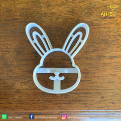 Conejo de pascuas 1 v1 (2).png Download STL file Easter Bunny Cookie Cutter • 3D print design, andih256
