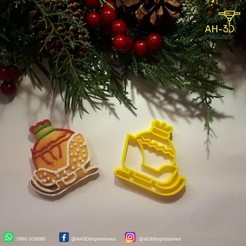 Trineo.jpeg Download STL file Sled Cookie Cutter • Design to 3D print, andih256