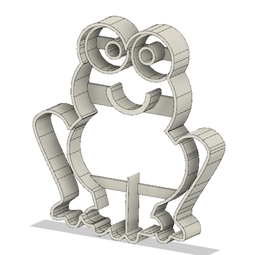Download free 3D printer designs Frog cookie cutter, andih256